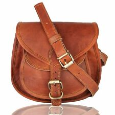 Women's Adult Genuine Brown Leather Shoulder Messenger Cross Body Vintage Bag