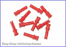 Lego Technic 10 x conectores con stop rojo - 32054-connector pins red-nuevo/new
