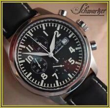 Automatik chronograph Alfons Daniels Valjoux 7750 con fondo de cristal nuevo