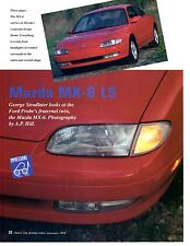 1993 MAZDA MX-6 LS  ~  ORIGINAL 3-PAGE ARTICLE / AD