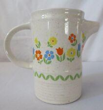 Vtg Erin Stone Brendan Pottery Creamer Small Pitcher Flowers Spring Arklow