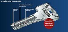 Original ABUS BRAVUS 1000 Zylinder 35-40 mit 2 Schlüssel vom Fachhändler