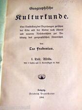 Afrika  Geographie Kultur 1904 Landwirtschaft Nomaden - Reisebericht Kulturkunde