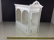 Dollhouse Miniature Store Shop Big White Acrylic Wood Display Showroom Case 1:12