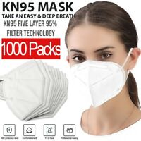 KN95 Protective 5 Layers Face Mask [1000PCS] BFE 95% PM2.5 Disposable Respirator