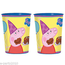 PEPPA PIG REUSABLE KEEPSAKE CUPS (2) ~ Birthday Party Supplies Favors Plastic