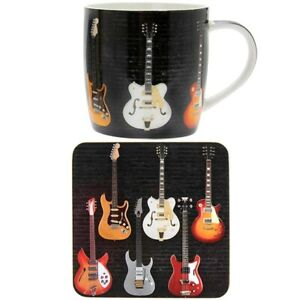 Lesser & Pavey Rock And Roll Electric Guitar Mug And Coaster Set Boxed lp46356