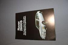 Rover 2600 2600S Prospekt Broschüre Werbung