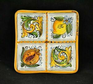 Elegante Antipastiera in ceramica di Caltagirone