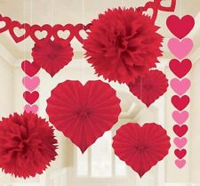 Amscan Blushing Valentine's Day Paper Party Decorating Kit (Pack of 9) #319578