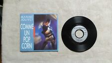 """S DISQUE VINYLE 45T 7"""" SP PROMO / MARINE JOLIVET """"COMME UN POP CORN"""" 1986 EURO-D"""