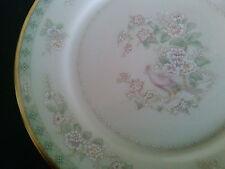 LENOX VTG FAIR ISLE Bread/Appetizer/Side Plates Bird & Floral Pattern Gold Trim