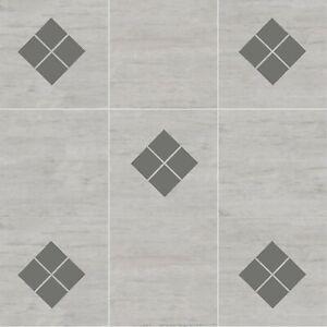 Diamond Square Tile Stickers Decals | Bathroom Toilet Kitchen Decorative Vinyl
