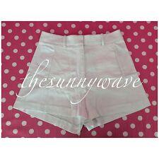 Victoria's Secret White High-Waist Pique Shorts Casual Summer EUC Size 4