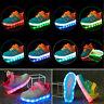 Kinder LED Glow Blinkschuhe Aufladene Licht Schuhe Kinderschuhe Sneakers 7 Farbe