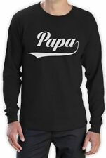 Cotton Long Sleeve Solid Retro T-Shirts for Men