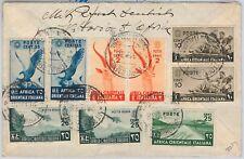 66103 - AFRICA ORIENTALE ITALIANA: Sass 9 + altri su BUSTA da VITTORIO D'AFRICA