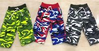 Boys Kids Children Camo Fleece Chino Shorts Half Pant Size Age 8-13 Years New
