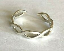 Sterling Silver .925 Toe Ring 3mm ~ Mid Double Weave $6.89 ea. All Sterling