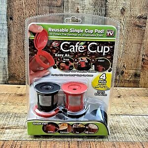 Cafe Cup Reusable K Cup Coffee Filter Keurig Pods As Seen on TV Pack of 4