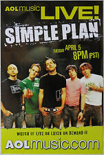 Simple Plan - Aol Music Live! - Original Rolled Rock Promo Poster