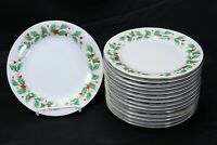 "China Pearl Noel Salad Plates 7.5"" Set of 15 Brown Back Stamp"