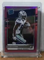 2020 CEEDEE LAMB DALLAS COWBOYS PANINI OPTIC PINK PRIZM RATED ROOKIE #156 RC