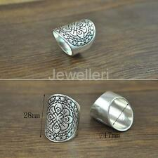 Charm Gypsy boho Tribal Vintage Silver Metallic Flower Band Finger Ring