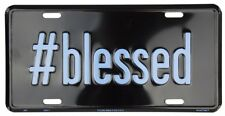 #BLESSED CAR TRUCK TAG LICENSE PLATE METAL SIGN CHRISTIAN FAITH RELIGIOUS