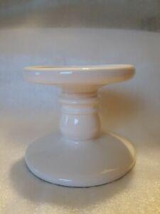BATH & BODY WORKS Ceramic White CANDLE HOLDER PEDESTAL Vintage