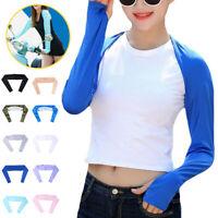 Summer Women's Shawl Cuff Gloves Golf Sleeves Ice Silk Sunscreen UV Protection