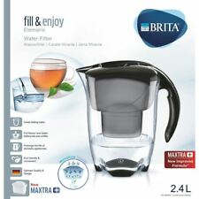 BRITA Elemaris Cool Maxtra + Plus 2.4 L Caraffa filtrante per frigorifero + Cartuccia, Nero