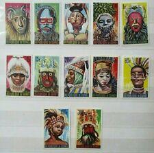 Guinea 1965 Native Masks Set UM. SG 472/83.