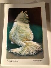 WHITE Persian Cat VINTAGE Postcard ART CARD LOT OF 10  IN STORAGE FOR DECADES