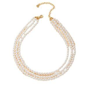 Fashion  Delicate Three-layer Pearl Necklace