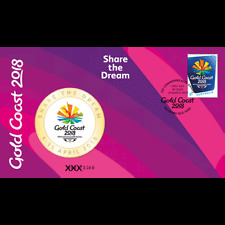 2018 XXI Commonwealth Games Limited Edition Medallion Cover PNC