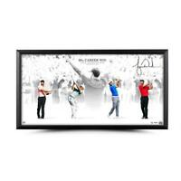 """TIGER WOODS Autographed """"Victory"""" 36 x 18 Framed Photograph UDA LE 80"""