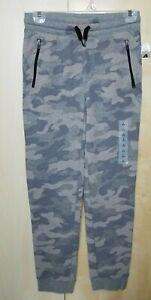 Old Navy boys Zip-Pocket Jogger Sweatpants sz L 10-12 New! gray camo