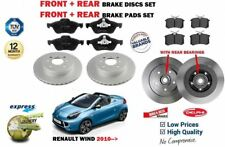 FOR RENAULT WIND 1.2 1.6 2010> FRONT + REAR BRAKE DISCS SET + PADS KIT + BEARING