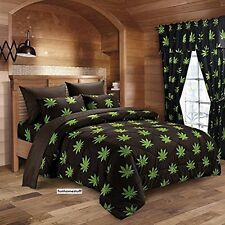 BRAND NEW MARIJUANA POT MEDICINAL HERB WEED LEAF COMFORTER FULL / QUEEN SIZE