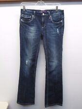 Vigoss Collection Women's Boot Cut Medium Wash Distressed Blue Jeans (Size: 5/6)