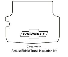 1959 1960 Chevrolet Nomad Trunk Rubber Floor Mat Cover with G-010 Chev Bowtie