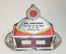 "Rare 1969 Neil Armstrong Space Helmet Mask ""First Man On The Moon"" Wapakoneta OH"