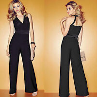 NEXT PREMIUM BLACK FORMAL HALTERNECK COCKTAIL JUMPSUIT PLAYSUIT One Piece Outfit