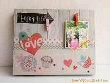 Photo board Wood Picture Frames Retro Vintage Art Hand crafted Home decor B2