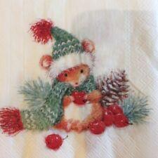 paper napkins decoupage x 2 Christmas Barney 25cm