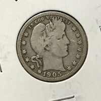 1905 25c BARBER QUARTER *NICE VERY GOOD SEMI KEY COIN* LOT#AD47