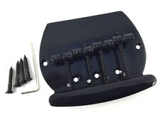 Black 4-String Music Man® OLP Style Bass Bridge BB-MM4-B