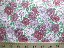 *BTY* Multiple Shades of Pink Roses Fabric flowers floral romantic shabby chic