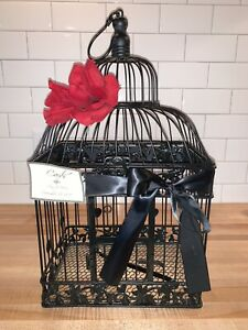 Large Wedding Reception Bird Cage Card Box/Holder -TIMELESS - CLASSIC - Black